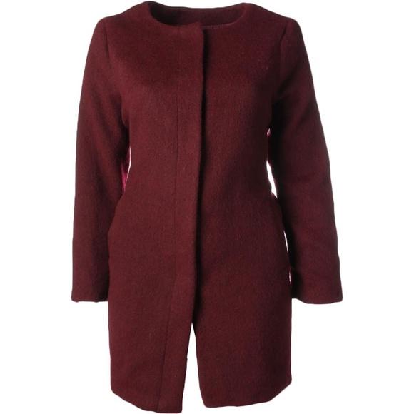 9d12f6d62f7 BB Dakota Plus Size Cassady Collarless Coat
